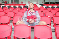 Press Eye Belfast - Northern Ireland 10th October 2017. Ulster Rugby press conference at the Kingspan Stadium in east Belfast ahead of their Champions Cup fixture versus Wasps on Friday night.  . Kieran Treadwell. . Picture by Jonathan Porter/Inpho .