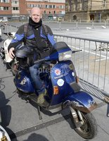 13th April 2019. Mick ONeill  from Belfast pictured at the annual Easter egg ride out in aid of the Royal Children\'s hospital.. Mandatory Credit -Presseye/Stephen Hamilton .