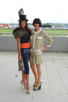 ©Press Eye Ltd Northern Ireland - 23rd  June  2012. Magners festival of racing at Down Royal. .Joanna Spencer Boyd,Suzanne Savage. Mandatory Credit - Picture by Stephen Hamilton /Presseye.com. . .