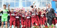 PressEye-Northern Ireland- 27th   July  2018-Picture by Brian Little/PressEye. SuperCupNI. Minor  Section . Greenisland celebrate victory  Bertie Peacock Youths       during the SuperCupNI Minor Final  at Coleraine Showgrounds. . Picture by Brian Little/PressEye