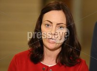 PressEye-Northern Ireland- 10th September  2018-Picture by Brian Little/ PressEye. SDLP Deputy Leader Nichola Mallon speaking at the Great Hall, Parliament Buildings, Stormont.. Picture by Brian Little/PressEye