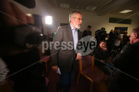 Press Eye Belfast - Northern Ireland 13th November 2017. Sinn Fein hold a press conference at Stormont regarding the ongoing talk to get the Northern Ireland Assembly up-and-running. . President Gerry Adams enters the room for the press conference. . Picture by Jonathan Porter/PressEye.com