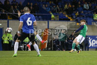 PressEye - Belfast - Northern Ireland - 10th October 2017. Euro 2019 Qualifier. Northern Ireland U21 vs Estonia U21. Pictured: Northern Ireland\'s Dale Gorman scores to make it 2-2.. Picture: PressEye / Philip Magowan