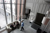 Northern Ireland- 20th April 2012 Mandatory Credit - Photo-Jonathan Porter/Presseye.    The new MAC building in St Anne\'s Square in Belfast City Centre opens its doors to the public.  The art and theatre space is free entry and has a number of exhibitions on along with a number of theatres.  General views of the building.