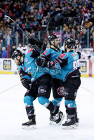 Press Eye - Belfast -  Northern Ireland - 03rd March 2019 - Photo by William Cherry/Presseye. Belfast Giants\' Jordan Smotherman is denied a goal after referees wave it off during Sunday afternoons Elite Ice Hockey League game against Manchester Storm at the SSE Arena, Belfast.