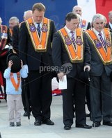 Centenary Covenant Obelisk Unveiling -  Portadown - 30th June 2012. Copyright Presseye.com. Mandatory Credit -  Declan Roughan / Presseye. An unveiling and dedication ceremony took place in Portadown on Saturday. A new 6 foot Centenary Covenant Obelisk was unveilled in the town centre plaza  in the presence of Lord Craigavon\'s grand daughter Aileen Coleman and great grandson Max Coleman. Wreaths were also laid at the second world war monument.