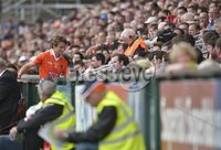 ©Russell Pritchard / Presseye  - 10th June 2012. Ulster GAA Football Senior Championship 2012 Quarter-Final : Armagh vs Tyrone at Morgan Athletic Grounds, Armagh. Armaghs Kevin Dyas gets a red card at Sundays Quarter Final.. ©Russell Pritchard / Presseye