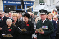 Wednesday 8th November 2017. Picture by Press Eye.com. Tom Elliott, Rosemary Barton, MLA; Former First Minister Arlene Foster and chief constable George Hamilton attending The Service at the unveiling and dedication of the memorial for the victims of the 1987 Enniskillen Poppy Day Bomb.