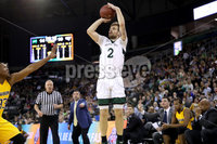 Press Eye - Belfast -  Northern Ireland - 02nd December 2017 - Photo by William Cherry/Presseye. Manhattan College\'s Patrick Strzala during Saturday evenings Championship game of the Basketball Hall of Fame Belfast Classic at the SSE Arena, Belfast.  Photo by William Cherry/Presseye