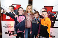 Press Eye - Belfast - Northern Ireland - 30th September 2018 - . Nicole, Darragh, Caelin and Martin Dobbin pictured at Movie House Dublin Road for a special preview screening of upcoming comedy, JOHNNY ENGLISH STRIKES AGAIN, in cinemas across Northern Ireland from Friday 5th October.. Photo by Kelvin Boyes / Press Eye..