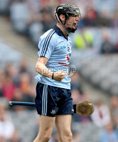 GAA Hurling All Ireland Minor Championship Semi-Final, Croke Park, Dublin 12/8/2012. Dublin vs Clare. Dublin\'s Caolan Conway celebrates scoring his sides second goal. Mandatory Credit ©INPHO/James Crombie