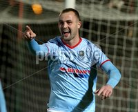 BetMcLean League Cup Round 3, Ballymena Showgrounds, Ballymena 10/10/2017. Ballymena United vs Portadown. Ballymena United\'s Kyle Owens celebrates scoring. Mandatory Credit ©INPHO/Brian Little