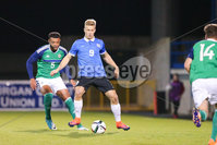 PressEye - Belfast - Northern Ireland - 10th October 2017. Euro 2019 Qualifier. Northern Ireland U21 vs Estonia U21. Pictured: Northern Ireland\'s Ryan Johnson and Estonia\'s Andre Jarva.. Picture: PressEye / Philip Magowan
