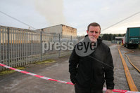 PressEye - Belfast - Northern Ireland - 01st December 2017. Pictured: Justin McNulty MLA at the scene of a fire in the Carnbane industrial estate in Newry.. Picture: PressEye / Philip Magowan