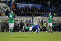 PressEye - Belfast - Northern Ireland - 10th October 2017. Euro 2019 Qualifier. Northern Ireland U21 vs Estonia U21. Pictured: Northern Ireland\'s Dale Gorman celebrates.. Picture: PressEye / Philip Magowan