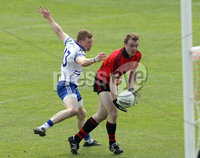 Ulster GAA Football Senior Championship Semi-Final, Morgan Athletic Grounds 24/6/2012. Down vs Monaghan. Down\'s Brendan McArdle with Kieran Hughes of Monaghan. Mandatory Credit ©INPHO/Morgan Treacy