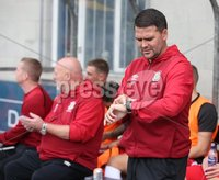 Danske Bank Premiership, Mourneview Park, Lurgan 4/8/2018. Glenavon FC vs  Linfield FC. Linfield manager David Healy.. Mandatory Credit @INPHO/Brian Little.