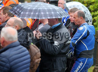 Press Eye - Belfast - Northern Ireland - 11th July 2018. Funeral for road racer William Dunlop at Garryduff Presbyterian Church outside Ballymoney in Co. Antrim.  The 32-year-old was killed while participating in the practise session of the Skerries 100 in Co. Dublin lat Saturday.  William\'s father Robert was also buried from Garryduff Presbyterian Church when he died at the North West 200 road race in 2008.. Mourners pictured the funeral service. . Picture by Jonathan Porter/PressEye