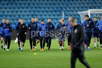 Press Eye - Belfast -  Northern Ireland - 07th October 2017 - Photo by William Cherry/Presseye. Northern Ireland players during Saturdays nights training session at the Ullevaal Stadion, Oslo ahead of Sundays World Cup Qualifier against Norway.   Photo by William Cherry/Presseye