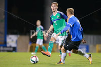 PressEye - Belfast - Northern Ireland - 10th October 2017. Euro 2019 Qualifier. Northern Ireland U21 vs Estonia U21. Pictured: Northern Ireland\'s Mark Sykes. . Picture: PressEye / Philip Magowan