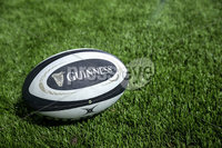 Guinness PRO14, Rodney Parade, Newport, Wales 1/12/2017. Dragons vs Ulster. A view a match ball on the pitch ahead of the game. Mandatory Credit ©INPHO/Bob Bradford