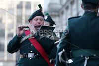 Press Eye - Belfast - Northern Ireland - 12th November 2017 . The band of the Royal Irish Regiment at The Cenotaph in the Garden of Remembrance, City Hall Grounds, Belfast during the National Day of Remembrance . It is the city of Belfast's tribute to the memory of those who died in the Great War and the Second World War. . . Photo by Kelvin Boyes / Press Eye..