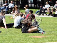Mandatory Credit - Picture by Freddie Parkinson/Press Eye . Friday 28 June 2019. The sunshine and the warm weather is going to stay with us for a good few days at least.. Everyone enjoying the heat wave at Belfast City Hall.