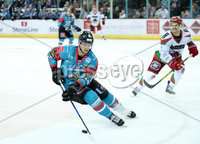 11 November 17, Mandatory Credit ©Press Eye/Darren Kidd.  Belfast Giants Sebastien Sylvestre during Saturday nights Elite League game at the SSE Arena, Belfast. Photo by Darren Kidd/Presseye