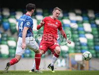 Danske Bank Premiership, Windsor Park, Belfast 9/2/2019. Linfield vs Coleraine. Linfield\'s Joshua Robinson with Coleraine\'s Dean Shiels. Mandatory Credit INPHO/Matt Mackey