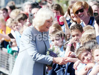 Press Eye - Belfast - Northern Ireland - 21st May 2019 - . The Prince of Wales and  Duchess of Cornwall are pictured meeting people from local businesses and members of the public from Lisnaskea, Co Fermanagh during their 2 day visit to Northern Ireland. . Photo by Jonathan Porter / Press Eye.