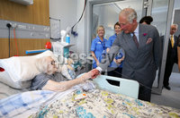 Press Eye - Belfast - Northern Ireland - 13th June 2018 - . The Prince of Wales has visited the Omagh Hospital and Community Care Complex in County Tyrone. His two-day visit to Northern Ireland began in Belfast earlier on Tuesday. The Omagh Hospital and Primary Care Complex opened to patients on 20 June 2017 and provides a range of hospital and community healthcare services together in one place. It ushered in a new era of joined up health care provision in the district.  It replaces the 118-year-old Tyrone County Hospital and investment in new equipment and technologies have improved patient care. The new hospital in Omagh has a 24-hour Urgent Care and Treatment Centre which provides cardiac assessment, a treatment room, x-ray and scans.. The Prince of Wales is pictured meeting Mary Shields..  . Photo by Kelvin Boyes / Press Eye..