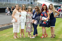 Press Eye - Belfast - Northern Ireland - 7th May 2018  - . May Day Meeting at Down Royal Racecourse.. Emma Best, Amie Mullan, Dearbhaile McClean, Aine Finey, Gemma Maguire Aoibhin McCool pictured at the County Down racecourse.. Photo by Kelvin Boyes / Press Eye .