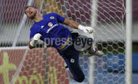 Press Eye - Belfast -  Northern Ireland - 28th May 2018 - Photo by William Cherry/Presseye. Northern Ireland goalkeeper Trevor Carson during Monday evenings training session at the Estadio Rommel Fernandez, Panama City.