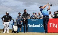2018 Dubai Duty Free Irish Open - Day 1, Ballyliffin Golf Club, Co. Donegal 5/7/2018. Padraig Harrington tees off at the ninth hole. Mandatory Credit ©INPHO/Oisin Keniry