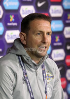 Press Eye - Belfast, Northern Ireland - 13th October 2020 - Photo by William Cherry/Presseye. Northern Ireland\'s Ian Baraclough during Tuesday nights press conference at the Ullevaal Stadium ahead of Wednesdays UEFA Nations League game against Norway in Oslo. Photo by William Cherry/Presseye