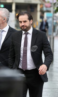 Press Eye - Belfast - Northern Ireland - 15th September 2020 . Blain McGuigan pictured as he heads into a High Court.. Carl Frampton, 32, is suing Barry McGuigan, his wife Sandra McGuigan and Cyclone Promotions (UK) Ltd, claiming a failure to pay purse money from his bouts.. Photo by Matt Mackey / Press Eye. . . Photo by Matt Mackey / Press Eye.