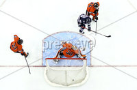 Press Eye - Belfast, Northern Ireland - 30th November 2019 - Photo by William Cherry/Presseye. UNH Wildcats\' Liam Blackburn scoring against Princeton Tigers during Saturday afternoons Friendship Four game at the SSE Arena, Belfast.      Photo by William Cherry/Presseye