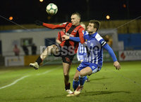 Danske Bank Premiership, The Showgrounds Newry 11/01/2019. Newry vs Crusaders. Newrys John Boyle  with Crusaders Rory Hale. Mandatory Credit INPHO/Stephen Hamilton.