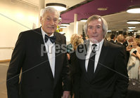 Press Eye - Belfast - Northern Ireland - 14th January 2019.. BELFAST TELEGRAPH SPORTS AWARDS 2018. Willie John McBride CBE and Pat Jennings pictured at the  Belfast Telegraph Sports Awards in the ICC Belfast.. Photo by Matt Mackey / Press Eye.