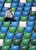Press Eye - Belfast, Northern Ireland - 01st September 2020 - Photo by William Cherry/Presseye. Northern Ireland manager Ian Baraclough does his socially distanced tv interviews before Tuesday mornings training session at the National Stadium at Windsor Park, Belfast ahead of Friday nights Nations League game in Romania.    Photo by William Cherry/Presseye