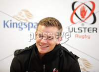 Press Eye Belfast - Northern Ireland 10th October 2017. Ulster Rugby press conference at the Kingspan Stadium in east Belfast ahead of their Champions Cup fixture versus Wasps on Friday night.  . Dwayne Peel. . Picture by Jonathan Porter/Inpho