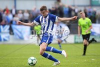 Danske Bank Premiership, Showgrounds, Coleraine 4/8/2018. Coleraine vs Warrenpoint. Coleraine\'s Alexander Gawne. Mandatory Credit ©INPHO/Lorcan Doherty