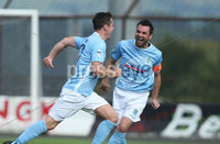 Danske Bank Premiership, Showgrounds, Ballymena  24/8/2019. Ballymena United  vs Glentoran FC . Ballymena United\'s   Andy McGrory celebrates scoring against Glentoran .. Mandatory Credit  INPHO/Brian Little
