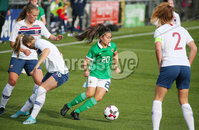 Press Eye - Belfast - Northern Ireland - 8th October 2019. European Women\'s U19 Championship 2020 Qualifying Round -  Northern Ireland Vs Norway, Seaview. Northern Ireland\'s Joely Andrews. Picture by Jonathan Porter/PressEye