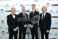 Press Eye - Belfast - Northern Ireland - 7th May 2018  - . NI Football Awards at the Crowne Plaza Hotel.. Jimmy Nicholl, Michael O\'Neill, Jonny Evans and Pat Jennings pictured at the Awards.. Photo by Kelvin Boyes / Press Eye .