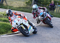 PressEye-Northern Ireland- 9th August 2018-Picture by Brian Little/ Double Red. Ulster Grand Prix  . Conor Cummins Padgetts Motorcycles Honda 600cc leads Adam McLean 600cc Kawasaki during Lisburn &Castlereagh City Council 600 Supersport Race  for the Ulster Grand Prix races  for the Ulster Grand Prix races around the Dundrod 7.4 mile circuit. . Picture by Brian Little/Double Red