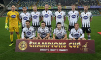 Unite the Union Champions Cup, Windsor Park, Belfast.  8/11/2019. Linfield  FC  vs Dundalk FC. Dundalk team . Mandatory Credit  INPHO/Brian Little