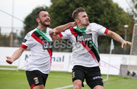 Danske Bank Premiership, Showgrounds, Ballymena  24/8/2019. Ballymena United  vs Glentoran FC . Glentoran Robbie McDaid  celebrates scoring the equaliser against Ballymena United.. Mandatory Credit  INPHO/Brian Little