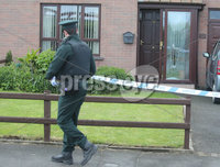 Press Eye - Belfast - Northern Ireland - 20th May 2019. The scene on the Ballynamoney Road outside Lurgan where shots were fired at a house. No one was injured in the attack which happened in the early hours of Monday morning.  . Picture by Jonathan Porter/PressEye