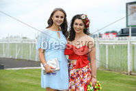 Press Eye - Belfast - Northern Ireland - 7th May 2018  - . May Day Meeting at Down Royal Racecourse.. Eimear Doyle and Dervla Dolan pictured at the County Down racecourse.. Photo by Kelvin Boyes / Press Eye .